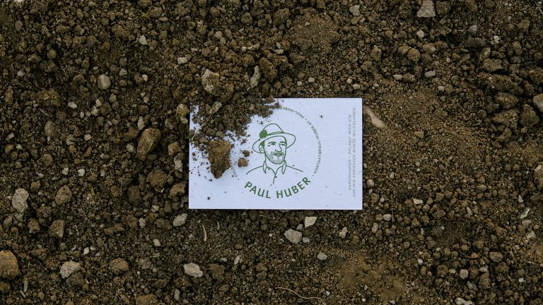 Visitenkarte Gartengestaltung Paul Huber